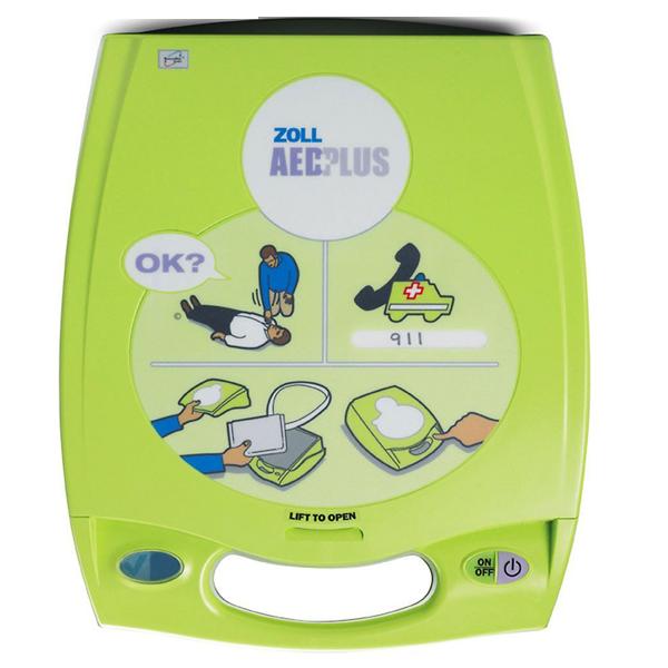 Zoll AED Plus hjärtstartare med HLR stöd. 5 års hållbarhet för både batteri och elektroder. 7 års produktgaranti.